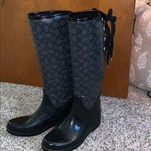 Coach rain boots size 7.5
